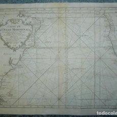 Arte: GRAN MAPA DEL OCÉANO ATLÁNTICO SUR (AMÉRICA-ÁFRICA), 1746. BELLIN/PREVOST. Lote 224374948