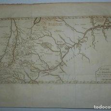 Arte: MAPA DEL CURSO DEL RÍO ORINOCO (VENEZUELA, AMÉRICA DEL SUR), 1764. BELLIN/PREVOST/KREVELT. Lote 224378510