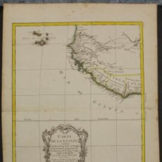Arte: GRAN MAPA DE CABO VERDE Y OCCIDENTE DEL GOLFO DE GUINEA (ÁFRICA), 1771. BONNE/LATTRE. Lote 224383171