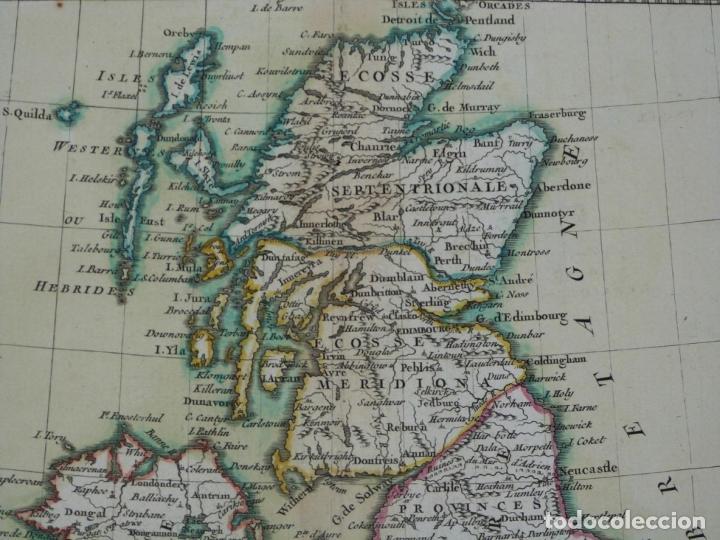 Arte: Gran mapa de las islas de Irlanda y Reino Unido, 1771. Janvier/Lattre - Foto 3 - 224386266