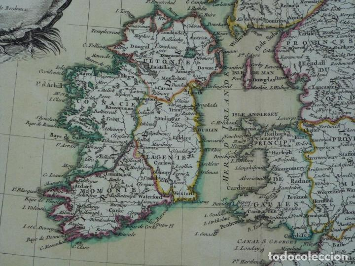 Arte: Gran mapa de las islas de Irlanda y Reino Unido, 1771. Janvier/Lattre - Foto 4 - 224386266