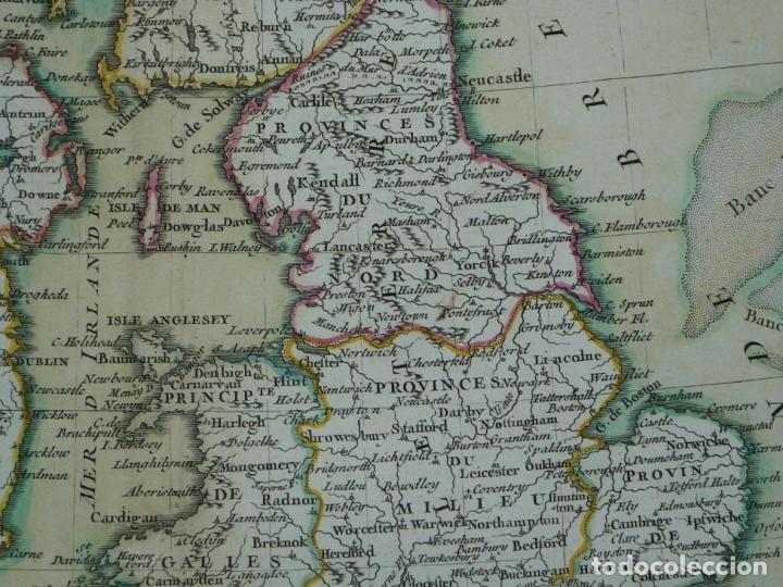 Arte: Gran mapa de las islas de Irlanda y Reino Unido, 1771. Janvier/Lattre - Foto 6 - 224386266