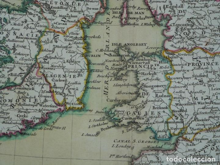 Arte: Gran mapa de las islas de Irlanda y Reino Unido, 1771. Janvier/Lattre - Foto 7 - 224386266