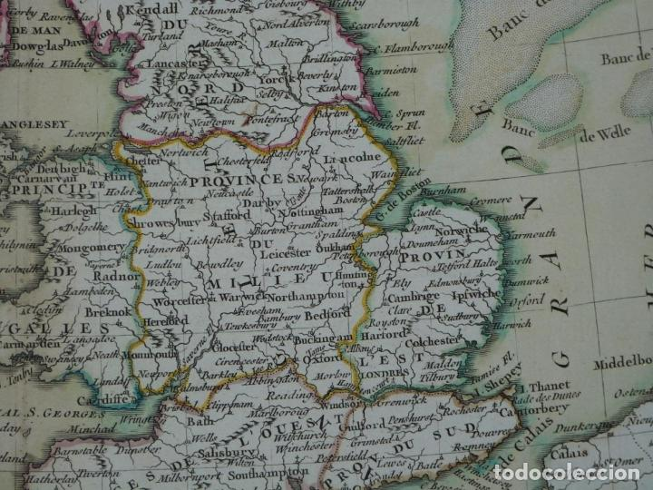 Arte: Gran mapa de las islas de Irlanda y Reino Unido, 1771. Janvier/Lattre - Foto 8 - 224386266