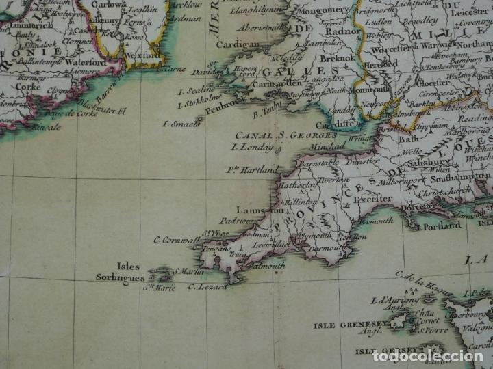 Arte: Gran mapa de las islas de Irlanda y Reino Unido, 1771. Janvier/Lattre - Foto 9 - 224386266