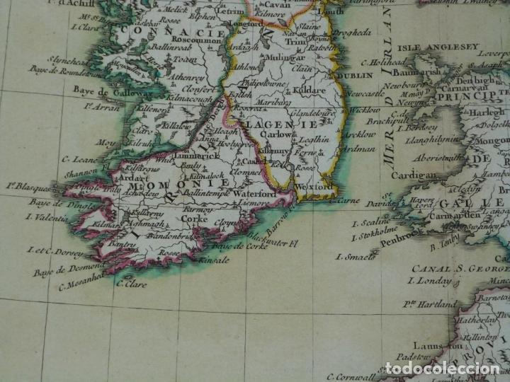 Arte: Gran mapa de las islas de Irlanda y Reino Unido, 1771. Janvier/Lattre - Foto 15 - 224386266
