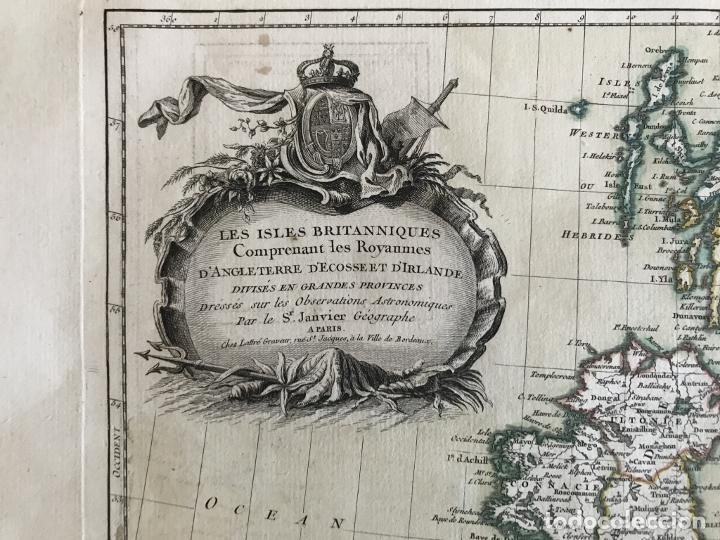 Arte: Gran mapa de las islas de Irlanda y Reino Unido, 1771. Janvier/Lattre - Foto 19 - 224386266