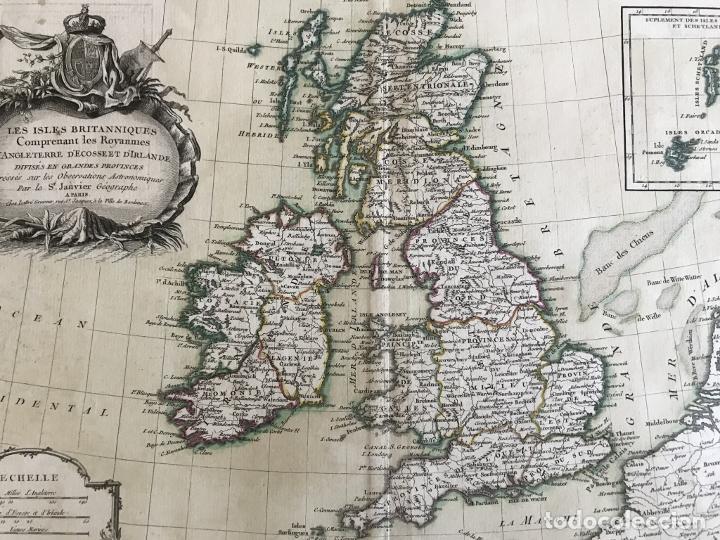 Arte: Gran mapa de las islas de Irlanda y Reino Unido, 1771. Janvier/Lattre - Foto 20 - 224386266