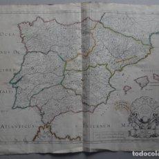 Arte: GRAN MAPA DE HISPANIA ROMANA (ESPAÑA Y PORTUGAL), 1704. SANSON/GALL. Lote 224387800
