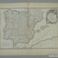 Arte: MAPA DE ESPAÑA Y PORTUGAL, 1775, JEAN JANVIER/LATTRE. Lote 224388515