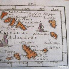 Arte: MAPA DE LAS ISLAS DE CABO VERDE (ÁFRICA OCCIDENTAL), 1702. J.U. MÜLLER/KHULEN/BODENEHR. Lote 224424555