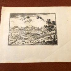 Arte: PLANO ANTIGUO GRABADO AL COBRE CIUDAD DE VALLS VAILS TARRAGONA 1660 ORIGINAL ALT CAMP. Lote 224712805