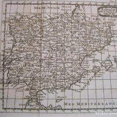 Arte: ANTIGUO MAPA DE ESPAÑA Y PORTUGAL, 1743. SANSON. Lote 224726480