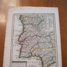Arte: MAPA DE PORTUGAL Y TEXTO, 1719. CHIQUET. Lote 224749536