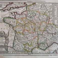 Arte: MAPA DE FRANCIA, 1719. CHIQUET. Lote 224753181
