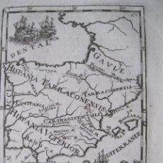 Arte: MAPA DE ESPAÑA Y PORTUGAL EN ÉPOCA ROMANA, 1683. MALLET. Lote 224760785