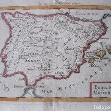 Arte: MAPA DE ESPAÑA Y PORTUGAL, 1686. MALLET. Lote 224761640