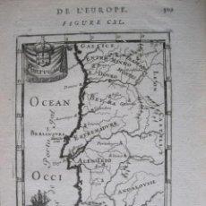 Arte: MAPA DE PORTUGAL, 1780. MALLET. Lote 224768100
