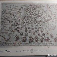 Arte: PLANO DE LA BAHIA DE CADIZ DURANTE EL ATAQUE ANGLO-HOLANDES DIRIGIDO POR EL CONDE DE ESSEX 1596. Lote 224794321