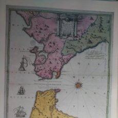 Art: PLANO DE CADIZ Y ESTRECHO DE GIBRALTAR. JEAN DE PETIT. SIGLO XVII. BIBLIOTECA NACIONAL DE FRANCIA. Lote 224794388