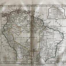 Arte: MAPA DE VENEZUELA, COLOMBIA,... (AMÉRICA DEL SUR), CA. 1790. VAUGONDY/DELAMARCHE/DUSSY. Lote 224907006