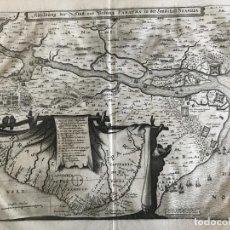 Arte: GRAN MAPA DE LA CAPITANÍA DE PARAÍBA EN BRASIL (AMÉRICA DEL SUR), 1680. M. MERIAN/GOTTFRIED. Lote 224989958