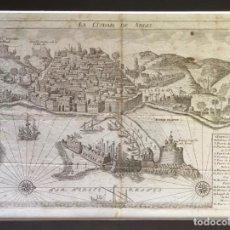 Arte: LA CIUDAD DE ARGEL. GRABADO ORIGINAL DEL SIGLO XVIII. 23,5 X 32 CM.. Lote 225029765