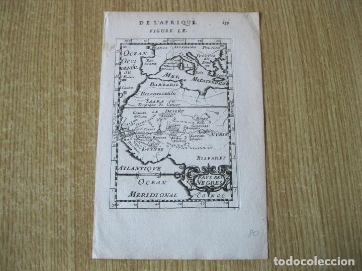 Arte: Mapa de África Occidental, 1750. Mallet - Foto 2 - 225109972