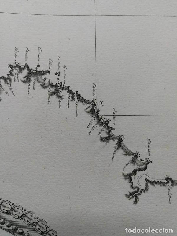 Arte: Carta nautica antigua siglo XVIII 1789 Carta esferica Galicia Buelganegra Catasol Tofiño - Foto 10 - 225244920