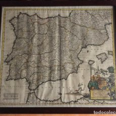 Arte: ANTIGUO MAPA DE ESPAÑA SIGLO XVII, IUSTINUM DANCKERTS,IDEAL COLECCIONISTAS. Lote 225293165