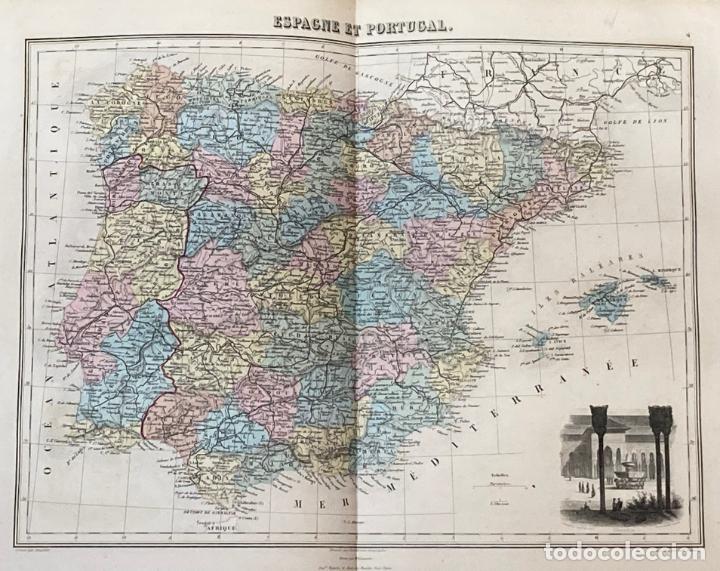 Arte: AÑO 1883 - ATLAS MIGEON GEOGRAPHIE UNIVERSELLE 43 MAPAS CON GRABADOS - CARTOGRAFÍA - Foto 5 - 225607760