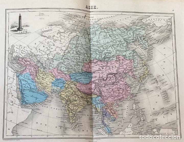 Arte: AÑO 1883 - ATLAS MIGEON GEOGRAPHIE UNIVERSELLE 43 MAPAS CON GRABADOS - CARTOGRAFÍA - Foto 6 - 225607760