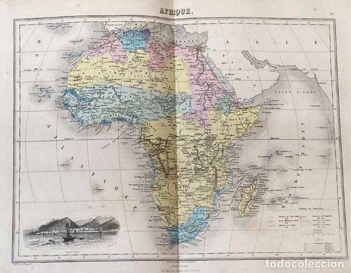 Arte: AÑO 1883 - ATLAS MIGEON GEOGRAPHIE UNIVERSELLE 43 MAPAS CON GRABADOS - CARTOGRAFÍA - Foto 8 - 225607760