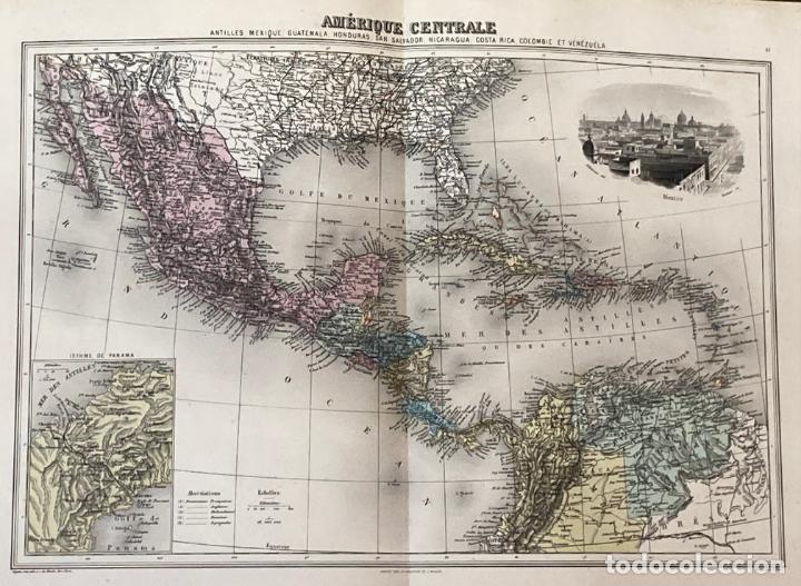 Arte: AÑO 1883 - ATLAS MIGEON GEOGRAPHIE UNIVERSELLE 43 MAPAS CON GRABADOS - CARTOGRAFÍA - Foto 10 - 225607760