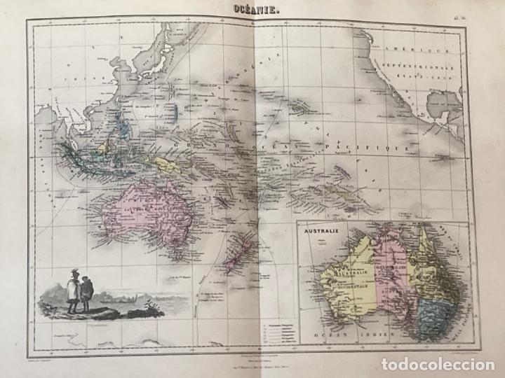 Arte: AÑO 1883 - ATLAS MIGEON GEOGRAPHIE UNIVERSELLE 43 MAPAS CON GRABADOS - CARTOGRAFÍA - Foto 12 - 225607760