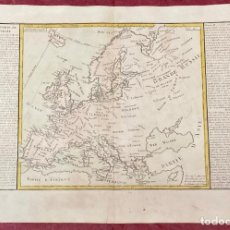 Arte: AÑO 1767 - MAPA DE EUROPA ESPAÑA POLONIA RUSIA UK ALEMANIA ITALIA FRANCIA - POR CLOUET, 1ª EDICIÓN. Lote 225760093