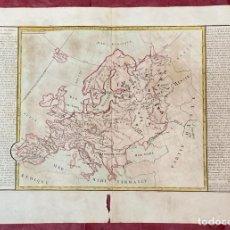 Arte: AÑO 1767 - MAPA DE EUROPA ESPAÑA POLONIA RUSIA UK ALEMANIA ITALIA FRANCIA - POR CLOUET, 1ª EDICIÓN. Lote 225763110