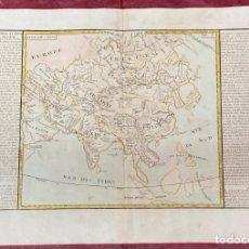 Arte: AÑO 1767 - MAPA DE ASIA INDIA CHINA ARABIA PERSIA FILIPINAS JAPÓN SIBERIA - POR CLOUET, 1ª EDICIÓN. Lote 225768765