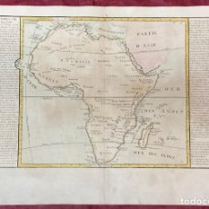 Arte: AÑO 1767 - MAPA DE AFRICA GUINEA MADAGASCAR ABISINIA - POR CLOUET, 1ª EDICIÓN. Lote 225769920