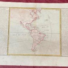 Arte: AÑO 1767 - MAPA DE AMERICA BRASIL CHILE PARAGUAY MEXICO PERU - POR CLOUET, 1ª EDICIÓN. Lote 225770360