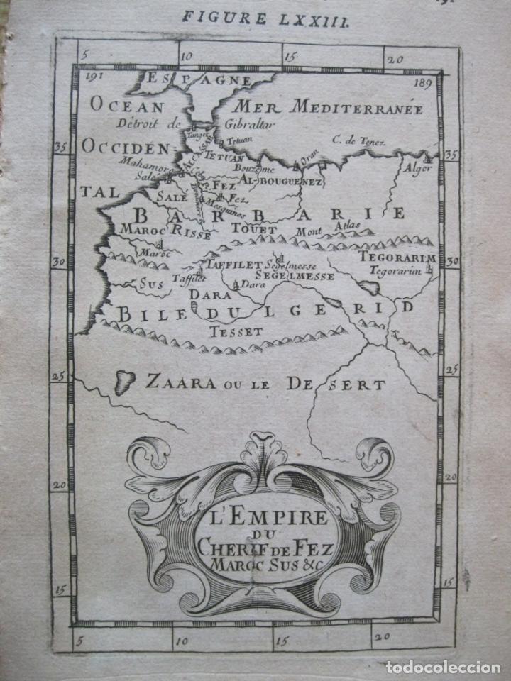 MAPA DEL ANTIGUO REINO DE FEZ (MARRRUECOS, ÁFRICA), 1750. MALLET (Arte - Cartografía Antigua (hasta S. XIX))