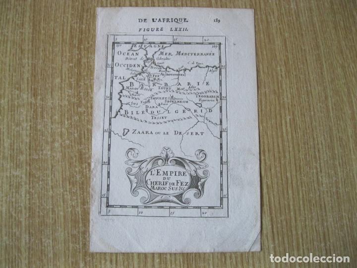 Arte: Mapa del antiguo Reino de Fez (África), 1683. Mallet - Foto 2 - 225823825
