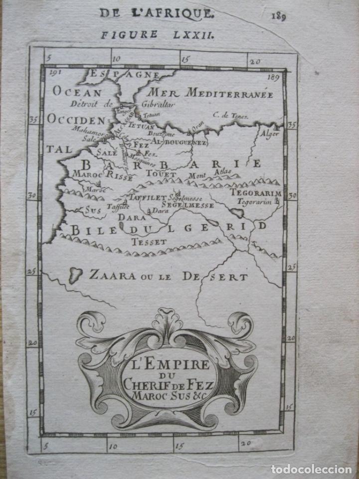 MAPA DEL ANTIGUO REINO DE FEZ (ÁFRICA), 1683. MALLET (Arte - Cartografía Antigua (hasta S. XIX))