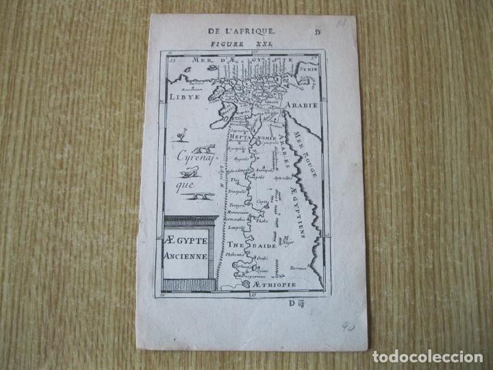 Arte: Mapa del antiguo Egipto, 1750. Mallet - Foto 2 - 225825638