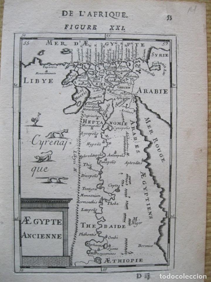 MAPA DEL ANTIGUO EGIPTO, 1750. MALLET (Arte - Cartografía Antigua (hasta S. XIX))