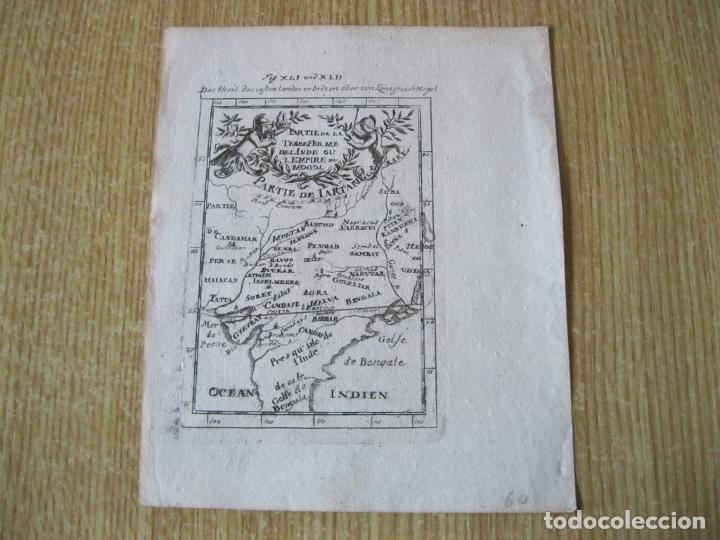 Arte: Mapa del Imperio Mongol (India, Asia), 1720. Mallet - Foto 2 - 225827857