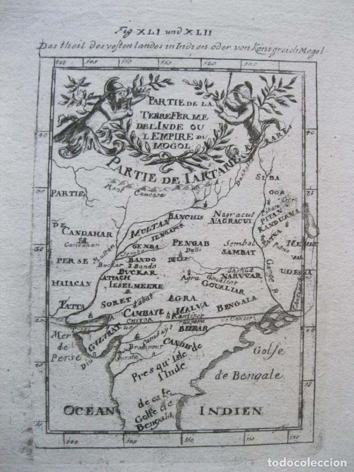 MAPA DEL IMPERIO MONGOL (INDIA, ASIA), 1720. MALLET (Arte - Cartografía Antigua (hasta S. XIX))