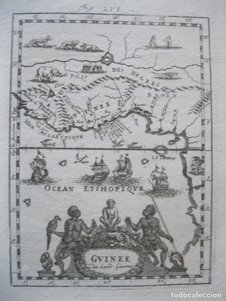 MAPA DE ÁFRICA OCCIDENTAL Y GOLFO DE GUINEA, 1750. MALLET (Arte - Cartografía Antigua (hasta S. XIX))