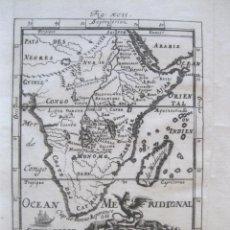Arte: MAPA DEL CENTRO Y SUR DE ÁFRICA, 1719. MALLET. Lote 226238170