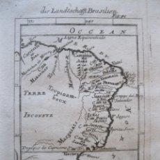 Arte: MAPA DE BRASIL, 1719. MALLET. Lote 226239495